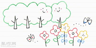 10天学会画画 第8天:植物、花朵的画法