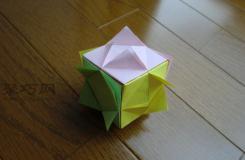 彩色正方形盒子的折法 如何手工折纸立体盒子