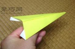 简单尖头飞机折纸教程 怎么用纸折尖头纸飞机