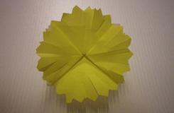 教你如何折纸花:折纸蒲公英的方法教程