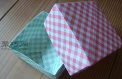 用纸折收纳盒的折法 diy折纸收纳盒教程