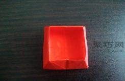 正方形礼品盒的折法 diy折纸正方形礼品盒图解