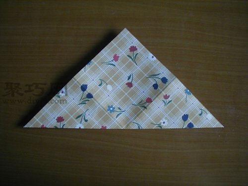 千纸鹤的折法第2步