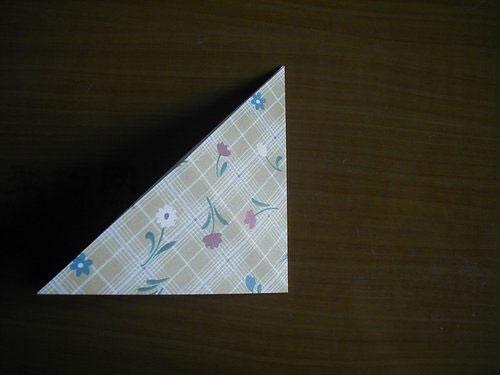 千纸鹤的折法第3步