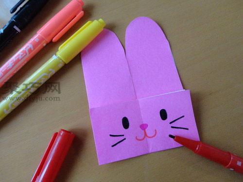 兔子纸竹蜻蜓的制作方法