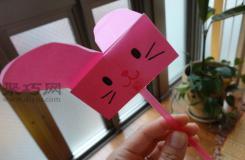 高空放下旋转下落的游戏 兔子纸竹蜻蜓的制作方法