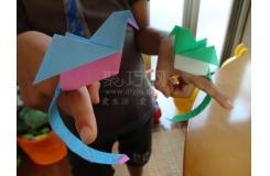 折纸长尾鸟教程:可以放在手上的鸟