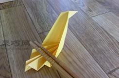 唯美筷子托折纸 天鹅形状筷子架的折纸方法