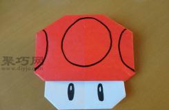 马里奥小蘑菇折纸 手工折纸蘑菇图解教程