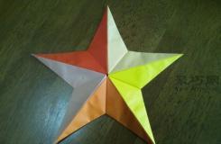 立体五角星的折法图解 怎么折纸立体五角星