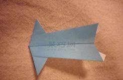 宽头飞机的折叠方法图解 如何用纸折乌贼头飞机