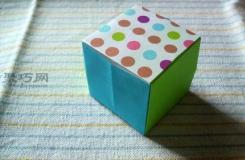 简单折正方形的折法 怎么折纸立体正方形